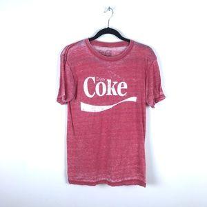 Vintage Coca Cola Factory Distressed T-Shirt Tee